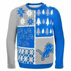 Detroit Lions Ugly Sweater - Busy Block - NEW NFL Christmas Holiday