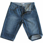 New Men's Blue Jeans Denim Shorts Rolled Hem Longer Length 100% Cotton SZ 27-41