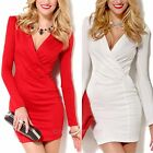 Fashion Sexy Women V Neck Bandage Bodycon Evening Cocktail Party Club Mini Dress
