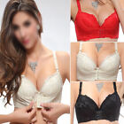 Super Boost Front Closure A B Cup Push Up Bra Gel Padded Side Support Plunge
