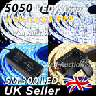 5M 5050 IP65 300 SMD LED Lamp Flexible Strip + RF Dimmer + UK / EU Power Supply
