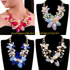 Fashion Multicolors Resin Pearl Cluster Flower Bubble Statement Choker Necklace