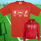 EAT, SLEEP, WALSALL FOOTBALL T SHIRT / HOODIE - KIDS ADULTS  TOP