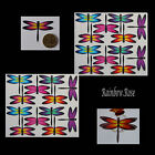Transparent Film Dragonfly #54 Rainbow Size 3 UN-CUT 6, 12 or 24 suncatchers 3D