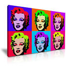 Marilyn Monroe Andy Warhol Icon Modern Wall Art Canvas Print Framed ~ Many Sizes