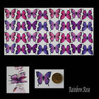 Transparent Film Butterfly #18 PINK LILAC Size 2 UNCUT 8, 16 or 32 suncatcher 3D