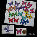 Transparent Film Butterfly #19 MIXED Size 2 PRE-CUT 8, 16 or 32 suncatcher 3D