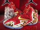 NEW NIKE LEBRON XI 11 PREMIUM 2K14 RED GOLD ICE BLUE LEOPARD 650884 674 DS SZ 11
