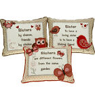 SISTER CUSHIONS PILLOW SOFT CUDDLY MESSAGE GIFT SENTIMENTAL HOME DECORATION LOVE