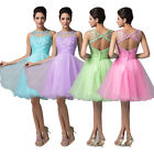 Pretty Formal Wedding Homecoming Bridal Prom Ball Party Evening Short Club Dress