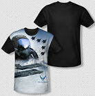United States Air Force Pilot Mask Jets All Over Black Back Youth T-shirt Top