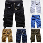 NWT MENS CASUAL ARMY CARGO COMBAT CAMO SHORTS SPORTS PANTS SUMMER TROUSERS W5822