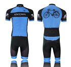 Cycling Jersey Bike Bicycle Clothing Short Sleeve Suit +Short Set Quick Dry Blue