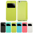 Flip Leather View Window Clear Matte Case Cover For iphone 6 4.7 Inch Chic