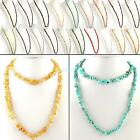 Retro Elegent Handmade Nugget Natural Rock Crystal Gemstone Chip Bead Necklace