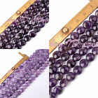 8MM,10MM COIN SHAPE NATURAL PURPLE AMETHYST LOOSE GEMSTONE BEADS STRAND 15""