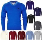 Mens Smith & Jones V Neck Button Detail Fine Knitted Smart Jumper Top Size