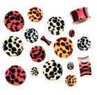 New Novelty Acrylic Leopard Cheetah Pattern Ear Tunnel Flesh Plug Various Sizes