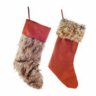 Contemporary Faux Fur & Felt Christmas Stocking - Two Designs Available