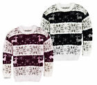 Womens Christmas Jumper Brave Soul New Mohair Reindeer Snowflake Novelty Sweater