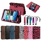 Stand Folio Leather Case Cover for Samsung Galaxy Tab 2 7.0 7 Tablet Stylus
