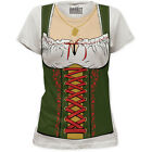 Oktoberfest German Gretchen Beer Maid Fraulein Ladies Women Costume T-shirt top