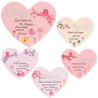 HEART SHAPED HANGING PLAQUE MESSAGE GIFT HOME DECOR PRESENT MIRROR WORD PINK NEW