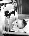 1954 BABY IN IRON LUNG POLIO BOBBY HILL PHOTO