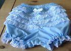 Adult baby blue pettipants with back frill