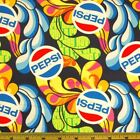 Sale Pepsi Cola Swirl Drink Explosion Soda Pop 100% Cotton Patchwork Fabric