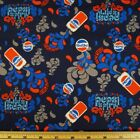 Sale Pepsi Cola Can Splash Classic Soda Drink 100% Cotton Patchwork Fabric