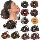 Women Black Brown Blond Pony Tail Extension Wig Hairpiece Hair Bun Scrunchie