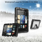 Waterproof Shockproof Heavy Duty Hard Combo Case Cover For Kindle fire HDX 7""