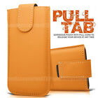 Pull Tab Leather Case Cover Flip Sleeve Pouch For Apple Iphone 4 4G 4S 5 5G 5C