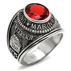 New Stainless Steel Men's Military Marines Ring - Sizes 8-13