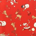 Red Rudolph & santa Christmas fabric 100 % cotton per fat quarter/half metre