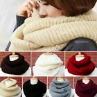 Women Winter Warm Infinity 2 Circles Cable Knit Cowl Neck Long Scarf Shawl ,1pc