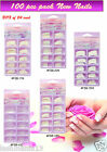 CRYSTAL GLAMOUR NAILS 100 FULL COVER NAIL TIPS **  SPECIAL OFFER **