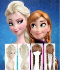 Disney Movies Frozen Snow Queen Elsa Anna Blonde Weaving Braid Cosplay Wig Xmas