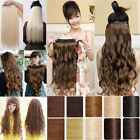 Long 100% Natural Hair Extension Clip in Hair Extension Half Full Head 2014 XMA