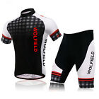FREE SHIP Men's Sports Outdoor Short Sleeve Cycling jersey + Padded Short Pants