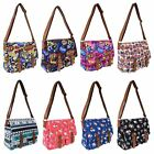 Ladies Girls Canvas Shoulder Satchel School Cross Body Messenger Handbag Bag
