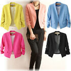 Hot! New Fashion Women's Korea Candy Color Solid Slim Suit Blazer Coat Jacket