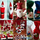 XMAS Gifts Candy Red Santa Claus Backpack Wine Bottle Bags Knifes&Forks Pockets