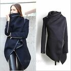 Hot Trend Women Zipper PU Warm Long Coat Jacket Trench Windbreaker Parka Outwear