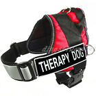 THERAPY DOG Vest Harness Reflective Velcro Patches IN TRAINING SERVICE DOG