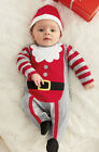 Baby Toddler Boy Girl Santa Romper Onesie Xmas Fancy Dress Costume Suit Outfit