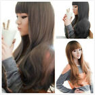 Vogue Women Long Wavy Fashion Cosplay Party Straight Natural Costume Wigs + Cap