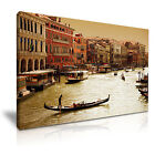 CITYSCAPE Europe Italy 4 1L Canvas Framed Printed Wall Art ~ More Size