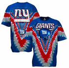 New York Giants V-Dye Liquid Blue T Shirt   SHIPS SAME DAY